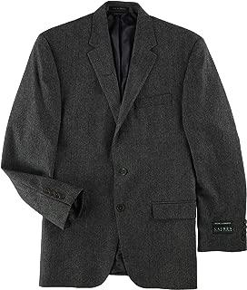 Mens Cashmere-Blend Two Button Blazer Jacket