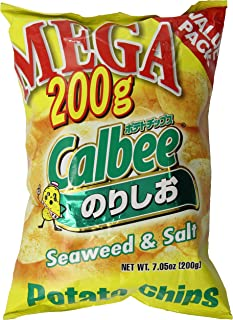 Calbee Seaweed and Salt Potato Chips, 7.05 Ounce