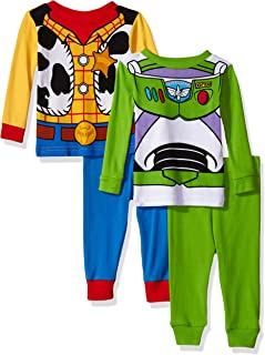 Toy Story Boys' 4-Piece Cotton Pajama Set