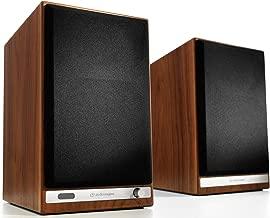 Audioengine HD6 150W Wireless Powered Bookshelf Speakers, Bluetooth aptX HD, USB 24-Bit DAC & Analog Amplifier (Walnut)