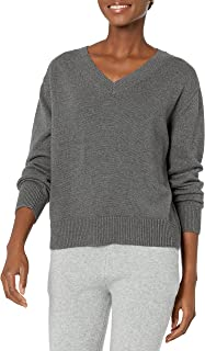 Amazon Brand - Daily Ritual Women's 100% Cotton Oversized Fit V-Neck Pullover Sweater