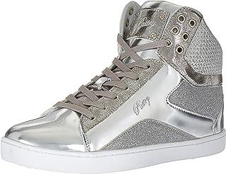 Pastry Womens Pop Tart Glitter Adult Dance Sneaker PA151002, Silver, Size 8.5