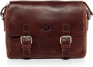 SID & VAIN Messenger Bag echt Leder Yale Schultertasche Umhängetasche Ledertasche Unisex