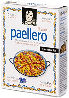 Paellero Paella Seasoning from Spain (5 packets)