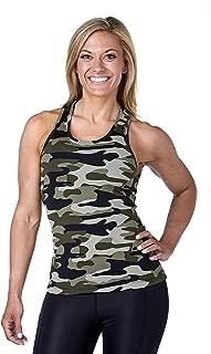 Camo Tank Top for Women- Lightweight Workout Racerback Yoga Tank for Running, Soft Sleeveless Fitness Top