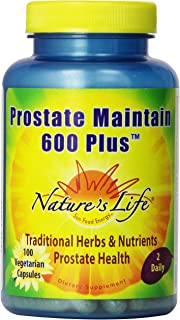 Nature's Life Prostate Maintain 600+ Veg Capsules | 100 Count