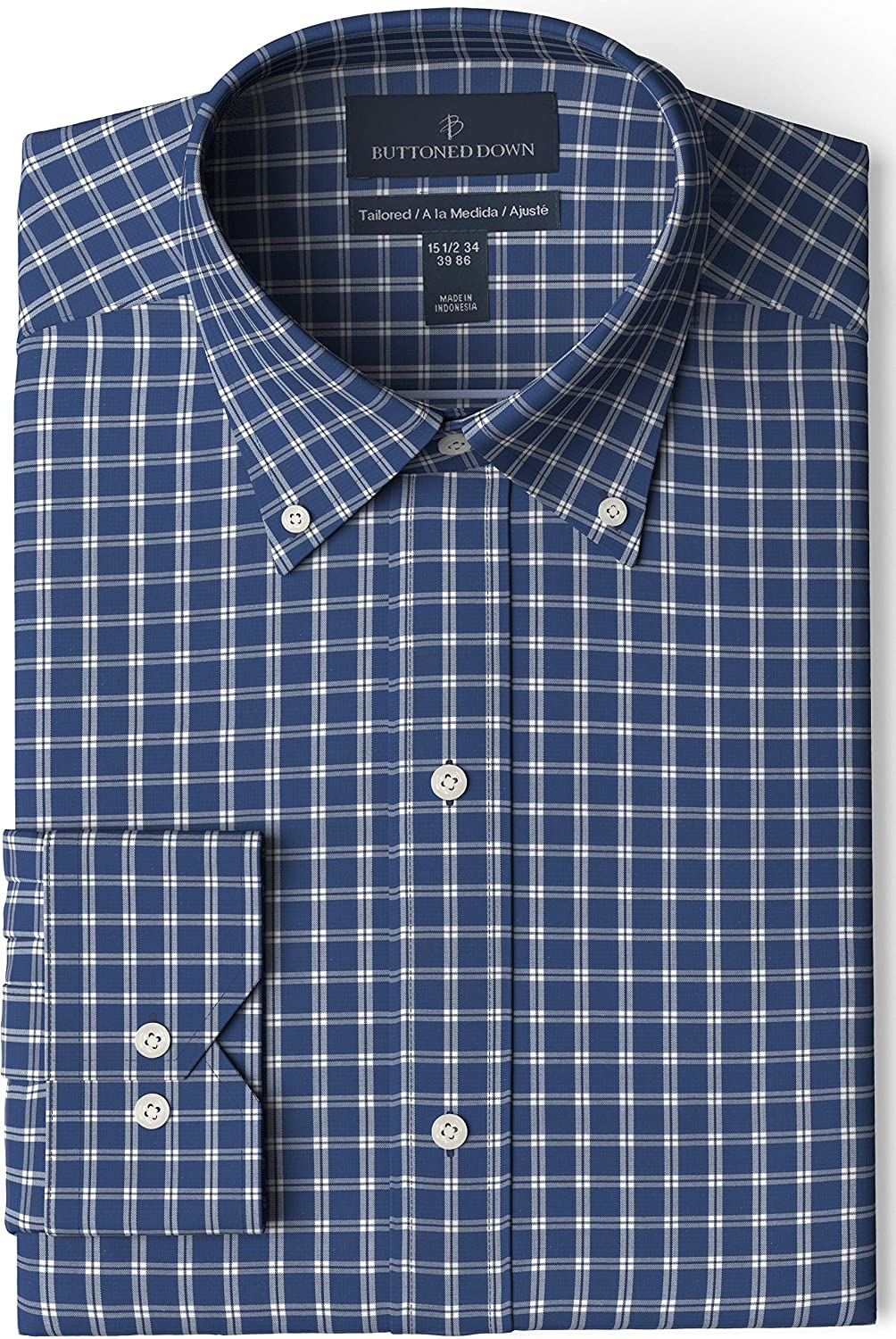 Buttoned 最安値挑戦 Down オンラインショッピング Men's Tailored Fit Button Shi Collar Pattern Dress