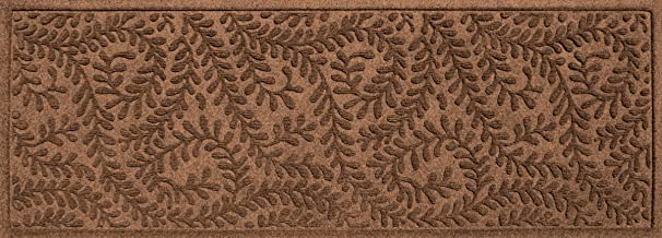 Bungalow Flooring Waterhog Indoor/Outdoor Runner Rug, 22 x 60 inches, Made in USA, Skid Resistant, Easy to Clean, Catches Water and Debris, Boxwood Collection, Dark Brown
