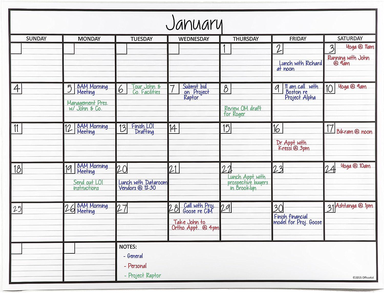 Laminiert Jumbo Wandkalender (91,4 x 121,9 cm) Dry Erase Radierbar One Monatsplaner für Büros Häuser und Schulen und akademischer Einstellungen – Made in USA B00XK95ZRQ   Angenehmes Gefühl