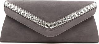 VINCENT PEREZ, Clutch, Abendtaschen, Umhängetaschen, Unterarmtaschen, Strass, 25x12x5,5 cm (B x H x T)