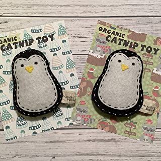 Catnip Cat Toy - Penguin - Organic Catnip/Wool Felt/Set of 2