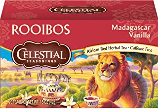 Celestial Seasonings Rooibos Tea, Madagascar Vanilla, 20 Count
