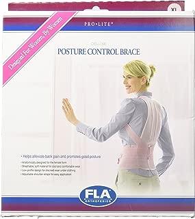 FLA Orthopedics Posture Control Brace for Women, Rose, X-Large