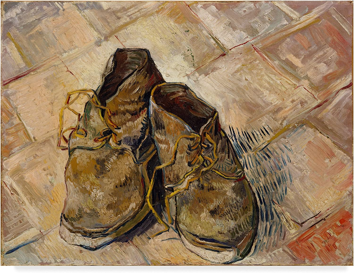 Trademark Fine Art shoes by Vincent Van Gogh, 14x19, Multicolor