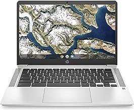 HP Chromebook 14-inch HD Laptop, Intel Celeron N4000, 4 GB RAM, 32 GB eMMC, Chrome (14a-na0010nr,...