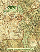 2020 Weekly Planner: Winchester & Lexington, Massachusetts (1946): Vintage Topo Map Cover