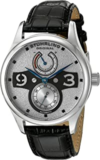 Stuhrling Original Men's 712.01 Leisure Khepri Analog Display Automatic Self Wind Black Watch