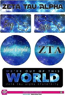 Zeta Tau Alpha - ورقة لاصقة - موضوع غالاكسي