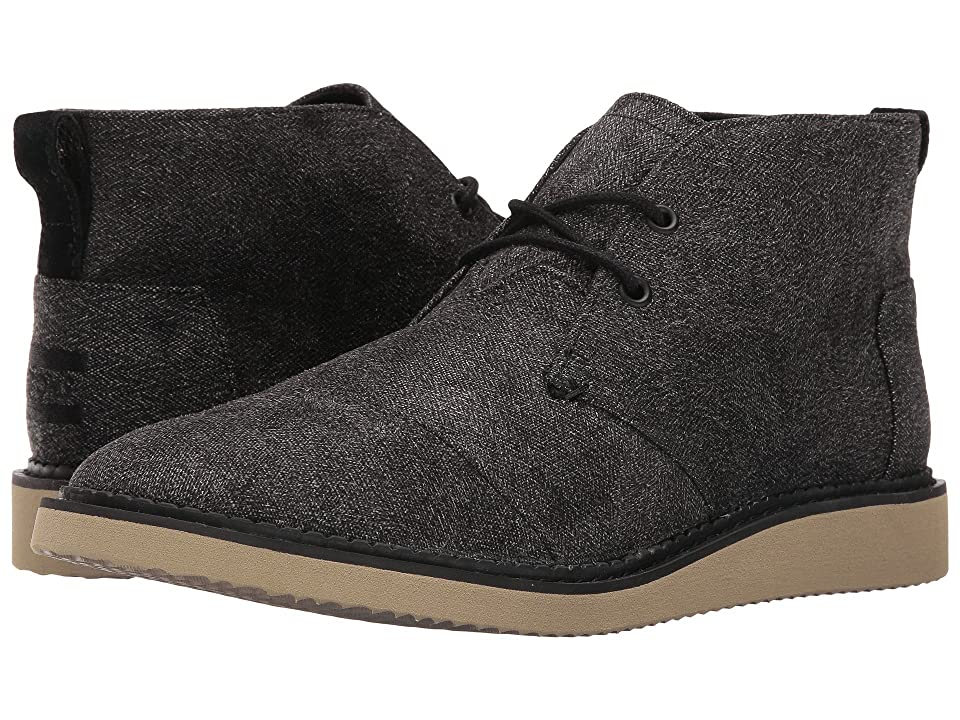 TOMS Mateo Chukka Boot (Charcoal Herringbone) Men
