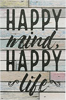 Stonebriar Rustic 10x15 Inch Worn Blue and White Wood Wall Art with Inspirational