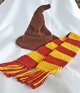 Crochet newborn sorting hat baby photo prop outfit