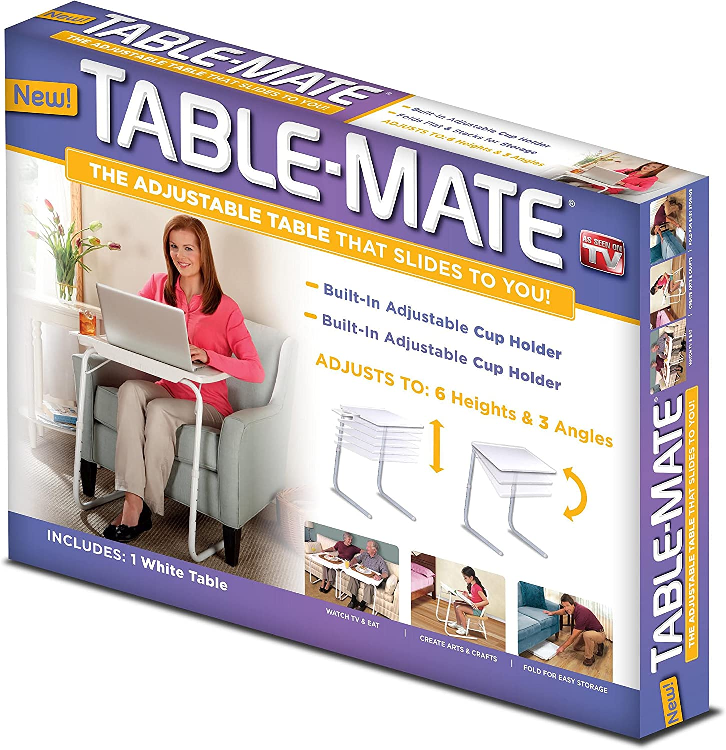 As Seen On TV Tablemate, White