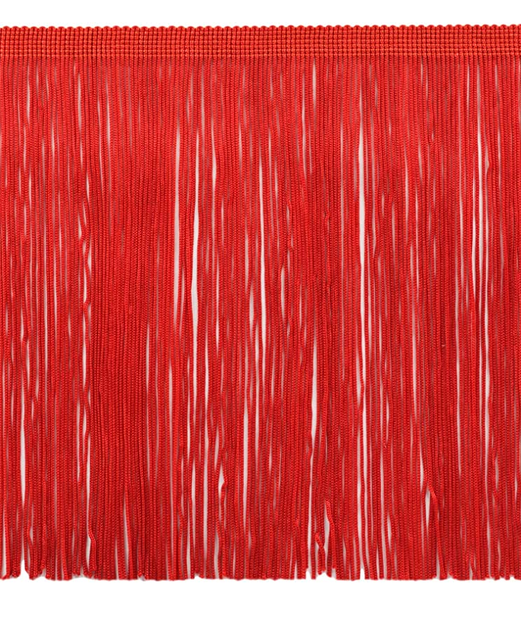 DecoPro 11 Yard Value Pack of 8 Inch Chainette Fringe Trim, Style# CF08 Color: Red - 06 (32.5 Feet / 10M)