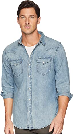 Classic Fit Denim Western Sport Shirt
