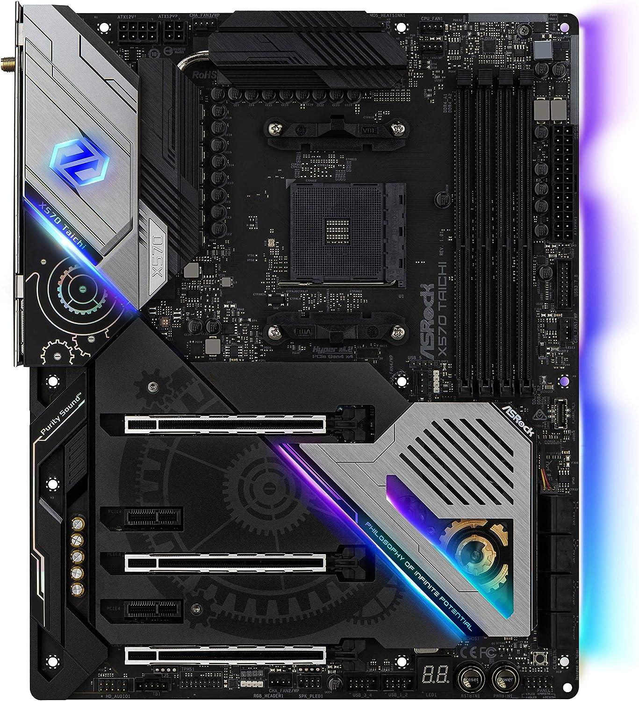 Asrock X570 Taichi - Placa Base (AMD, Zócalo AM4, AMD Ryzen, DDR4-SDRAM, DIMM, 2133,2400,2667,2933,3200,3466,4133,4200,4266,4300,4400 MHz)