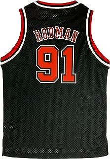Outerstuff Dennis Rodman Chicago Bulls #91 Black Youth Throwback Soul Swingman Jersey
