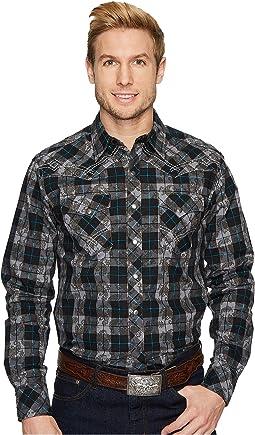 Wrangler Long Sleeve Rock 47 Shirt Plaid