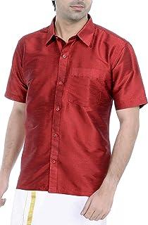 VASTRAMAY Men's Classic Fit Ethnic Shirt