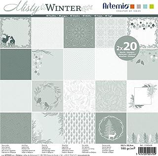 Artemio Set papiers 40 pages Misty Winter – 30x30 cm,