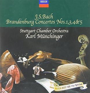 バッハ:ブランデンブルク協奏曲第1番/第3番/第4番/第5番