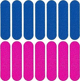 مجموعة أدوات صنفرة صغيرة من أوير، تستخدم لمرة واحدة من ألواح صنفرة مزدوجة الجوانب (أزرق ووردي، 100 قطعة، 5.08 سم 0.5 بوصة)