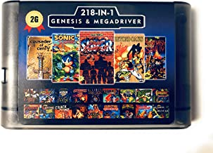 218 in 1 Game Card For Sega Megadrive Genesis with Shining Force II Langrisser II Sonic The Hedgehog 3 - 2G Capacity Battery Save