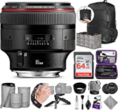 Canon EF 85mm f/1.2L II USM Lens with Altura Photo Advanced Accessory and Travel Bundle