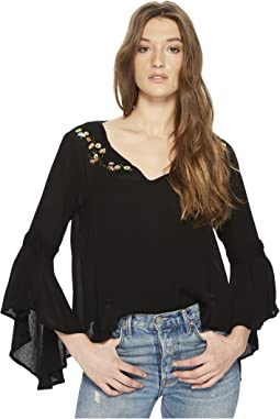 Jack by BB Dakota - Beech Bell Sleeve Top with Embroidery Detail