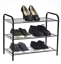 NHR Collapsible, Foldable Metal 3 Tier Shoe Rack