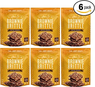 Brownie Brittle, Toffee Crunch, 5 Ounce, Pack of 6