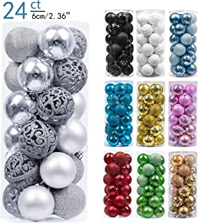 silver christmas ornament balls