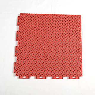 Red Color Modular Interlocking Multi-Use Deck Tile Safety Floor Matting (12 Pack)