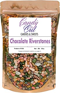 CandyOut Candy Chocolate Riverstones 2 Pound Chocorocks Riverstones in Sealed Stand Up Bag