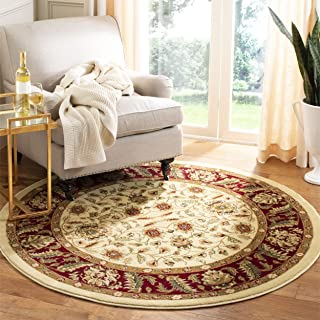 Safavieh Lyndhurst Collection LNH215A Traditional Oriental Ivory and Red Round Area Rug (8' Diameter)