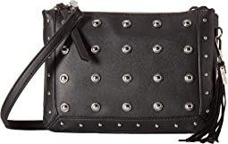 Pilar Stud Double Top Zip Crossbody