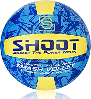 SHOOT Smash Volley | PU Pasted (Poly Urethane) | Size 4 (Multicolour) | HD-Graphics | Lining – 3 PLY | Inflating Needle In...