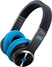 iHome iB88B Splash Proof Rugged Foldable Bluetooth Rechargeable Headphones with Mic Remote Control and Travel Pouch