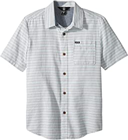 Volcom Kids - Eastport Chambray Short Sleeve Shirt (Big Kids)