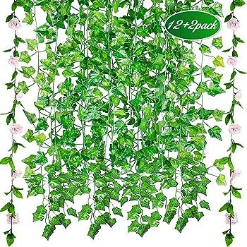 GVOO 12pcs*2.1m Plantas Colgantes Artificiales,Guirnaldas ...
