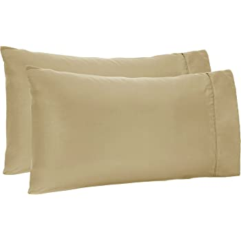 Amazon Basics Light-Weight Microfiber Pillowcases - 2-Pack, Standard, Sage